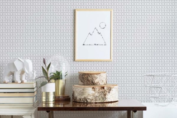 gray and white small link self-adhesive wallpaper