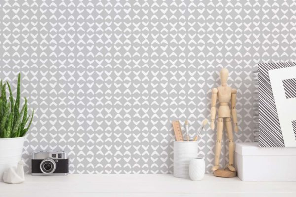 gray and white small link wallpaper peel and stick
