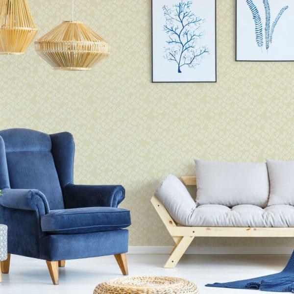 yellow stripe peel and stick wallpaper