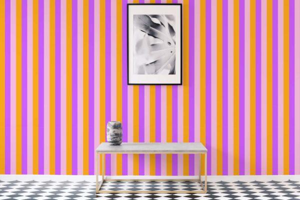 stripe stick and peel wallpaper