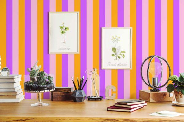 stripe peel stick wallpaper
