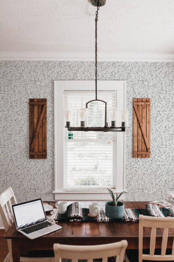 black and white terrazzo tile self-adhesive wallpaper