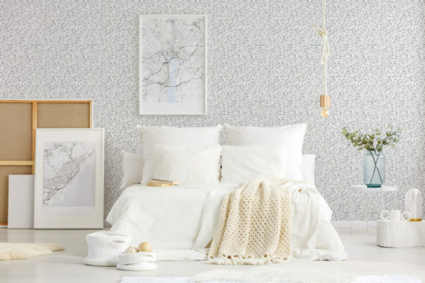 black and white terrazzo tile removable wallpaper