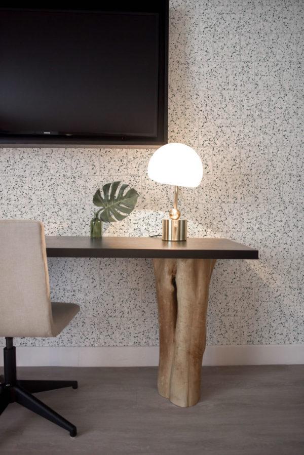 black and white terrazzo tile wallpaper peel and stick