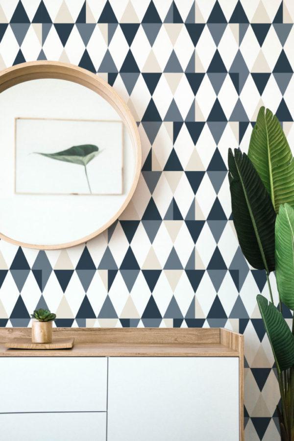 gray triangle removable wallpaper