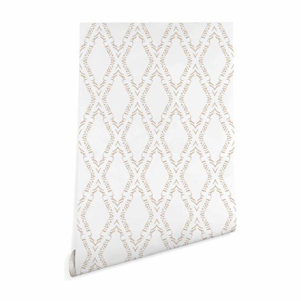ornamental diamond stick and peel wallpaper