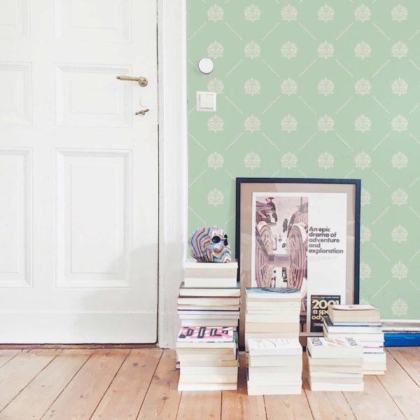 vintage stick and peel wallpaper