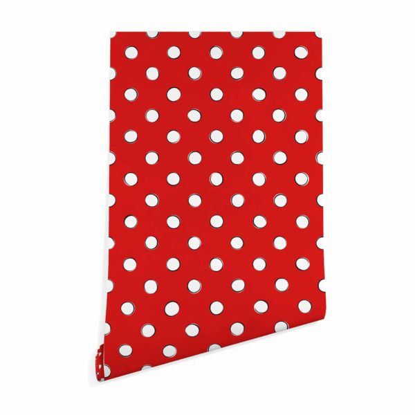 polka dots stick and peel wallpaper