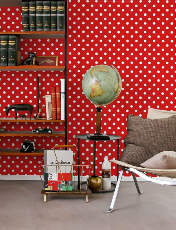 polka dots peel stick wallpaper