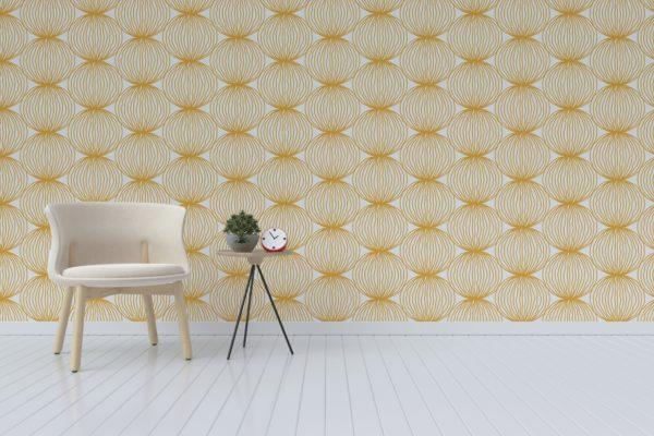 modern yellow circle wallpaper