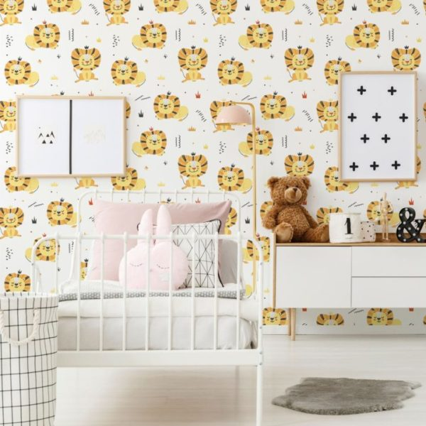 lion peel stick wallpaper